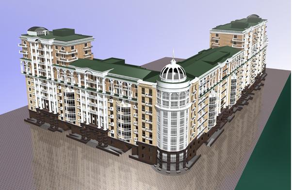 Элитные проекты многоквартирных домов в стиле классика